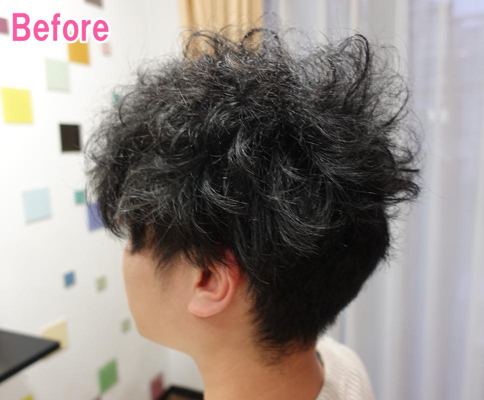 パサパサ 男 髪の毛