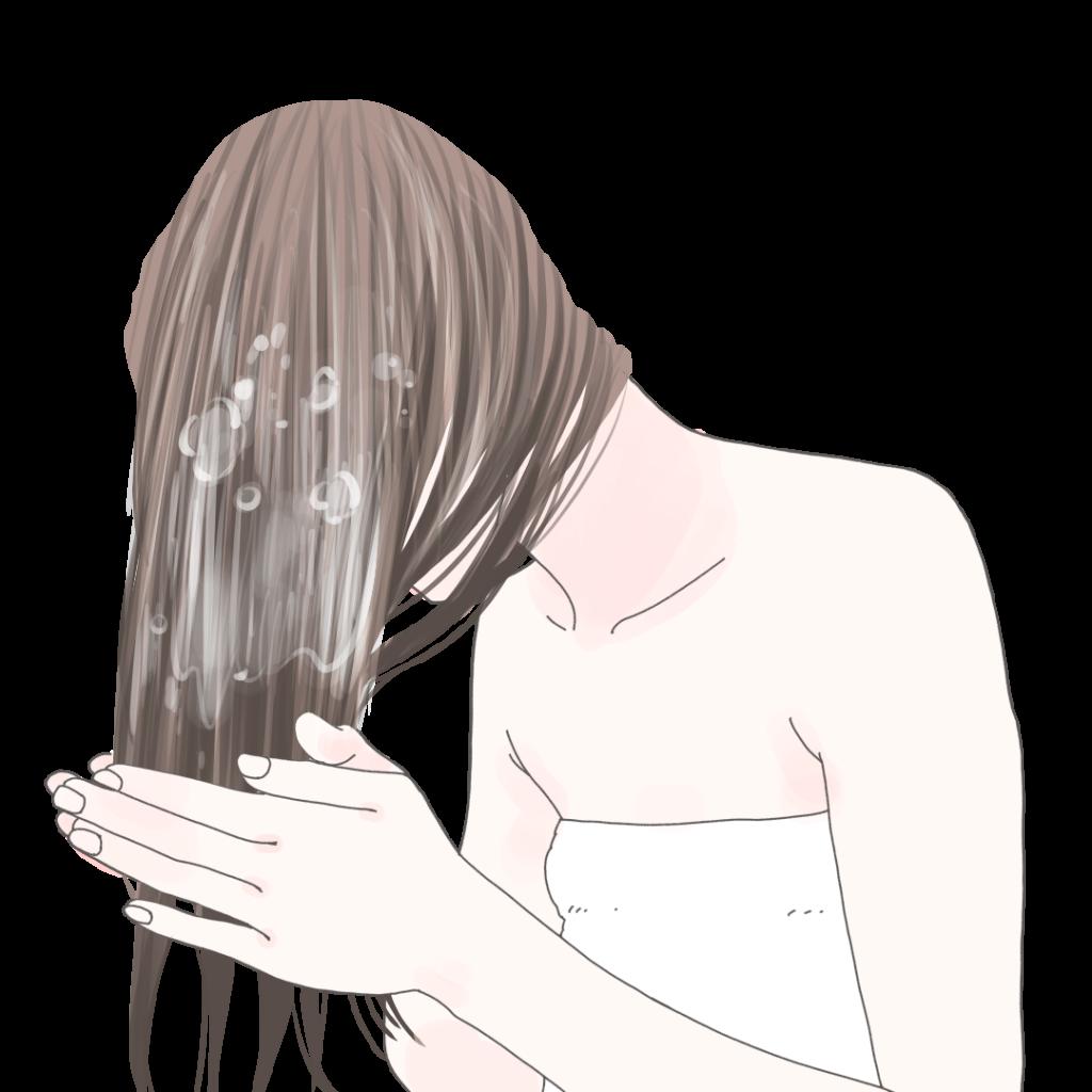 少なめのシャンプーで洗っても泡立たない