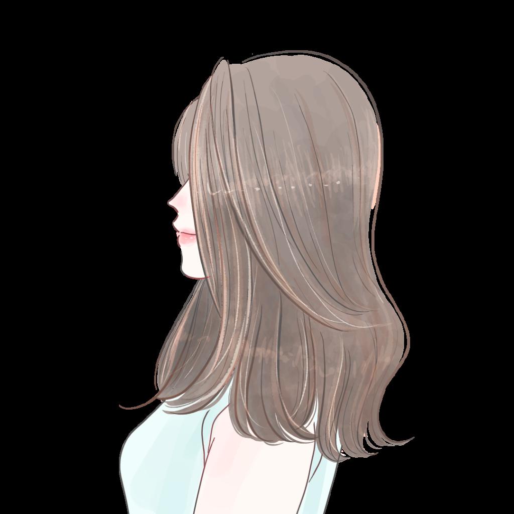 綺麗なロングヘア