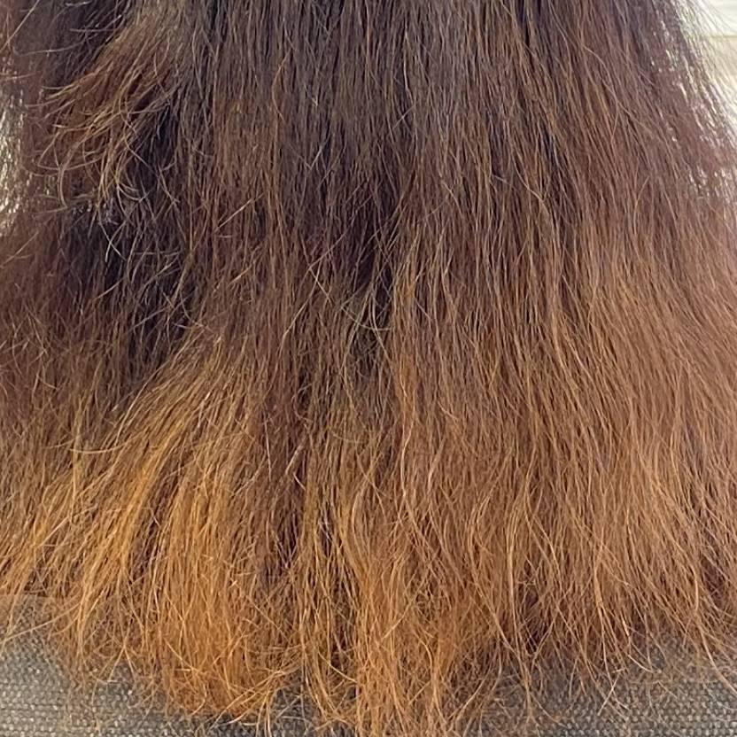 縮毛矯正でビビリ毛例